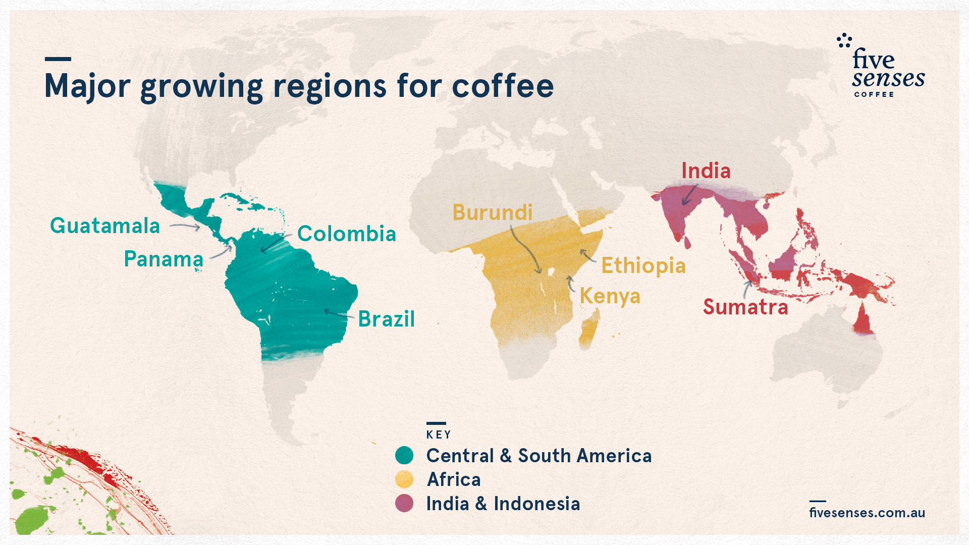 growing regions coffee map