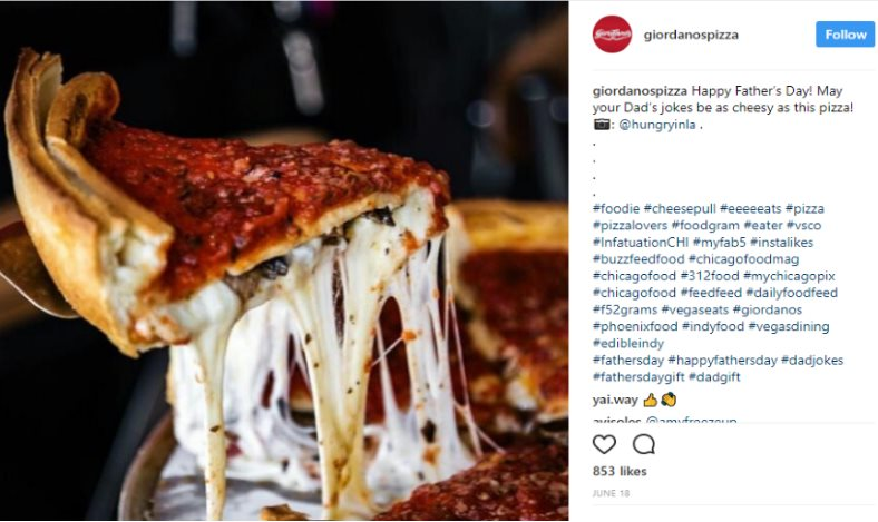 Instagram pizza
